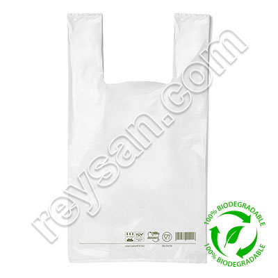 BOLSA CAMISETA BIODEGRADABLE 40 X 60 CM